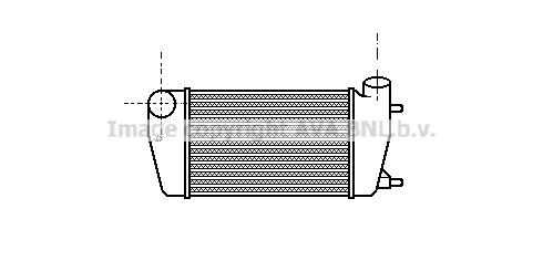 Intercooler radiateur de turbo AVA QUALITY COOLING AL4006 (X1)