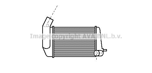 Intercooler radiateur de turbo AVA QUALITY COOLING AL4039 (X1)