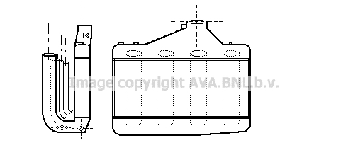 Intercooler radiateur de turbo AVA QUALITY COOLING AL4042 (X1)