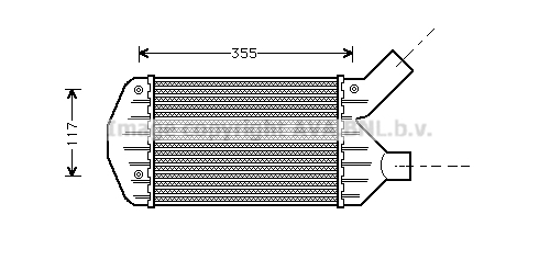 Intercooler radiateur de turbo AVA QUALITY COOLING AL4066 (X1)