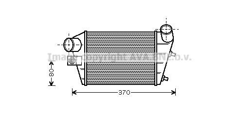 Intercooler radiateur de turbo AVA QUALITY COOLING AL4086 (X1)
