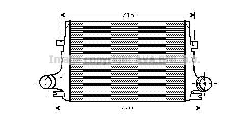 Intercooler radiateur de turbo AVA QUALITY COOLING AL4096 (X1)