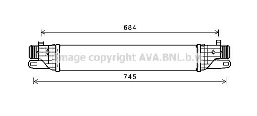 Intercooler radiateur de turbo AVA QUALITY COOLING AL4128 (X1)