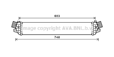 Intercooler radiateur de turbo AVA QUALITY COOLING AL4129 (X1)