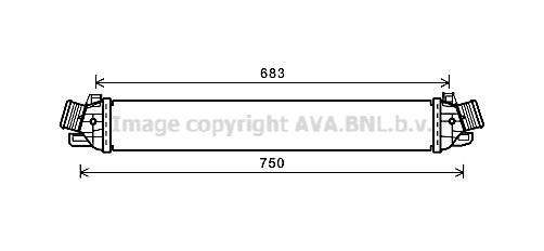 Intercooler radiateur de turbo AVA QUALITY COOLING AL4130 (X1)
