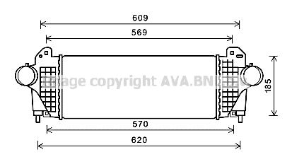 Intercooler radiateur de turbo AVA QUALITY COOLING AL4142 (X1)