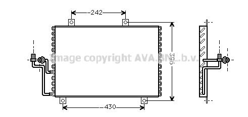 Condenseur / Radiateur de climatisation AVA QUALITY COOLING AL5062 (X1)