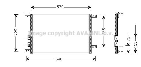 Condenseur / Radiateur de climatisation AVA QUALITY COOLING AL5070 (X1)