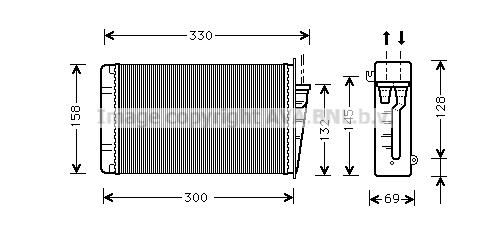 Radiateur de chauffage AVA QUALITY COOLING AL6015 (X1)