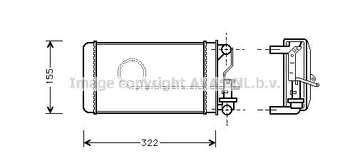 Radiateur de chauffage AVA QUALITY COOLING AL6032 (X1)