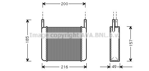 Radiateur de chauffage AVA QUALITY COOLING AL6033 (X1)