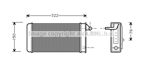 Radiateur de chauffage AVA QUALITY COOLING AL6037 (X1)