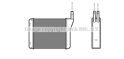 Radiateur de chauffage AVA QUALITY COOLING AL6046 (X1)