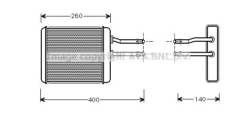 Radiateur de chauffage AVA QUALITY COOLING AL6072 (X1)