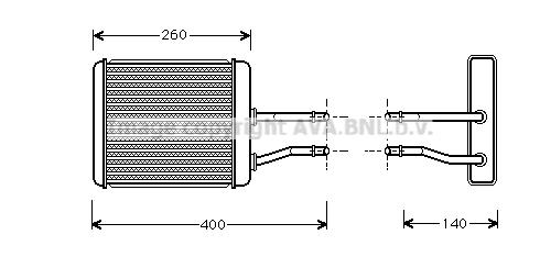 Radiateur de chauffage AVA QUALITY COOLING AL6073 (X1)