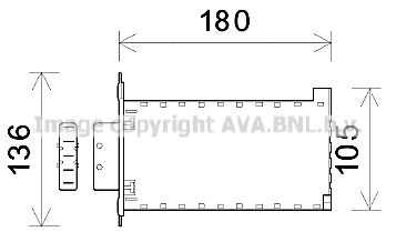 Radiateur de chauffage AVA QUALITY COOLING AL6141 (X1)