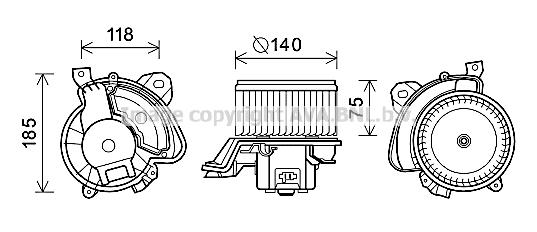 Moteur de ventilateur de chauffage AVA QUALITY COOLING AL8134 (X1)