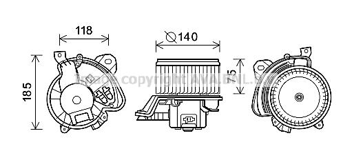 Moteur de ventilateur de chauffage AVA QUALITY COOLING AL8135 (X1)