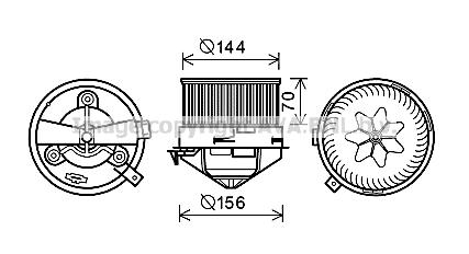 Moteur de ventilateur de chauffage AVA QUALITY COOLING AL8136 (X1)
