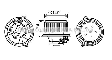 Moteur de ventilateur de chauffage AVA QUALITY COOLING AL8138 (X1)