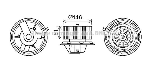 Moteur de ventilateur de chauffage AVA QUALITY COOLING AL8140 (X1)
