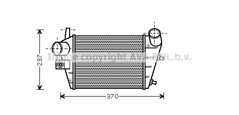 Intercooler radiateur de turbo AVA QUALITY COOLING ALA4085 (X1)