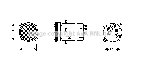 Compresseur AVA QUALITY COOLING ALK071 (X1)
