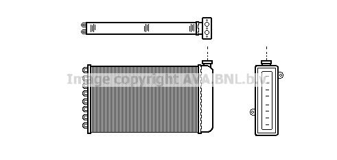 Radiateur de chauffage AVA QUALITY COOLING AU6057 (X1)