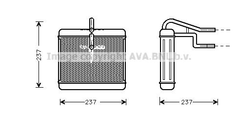 Radiateur de chauffage AVA QUALITY COOLING AU6060 (X1)