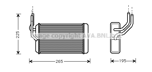Radiateur de chauffage AVA QUALITY COOLING AU6105 (X1)