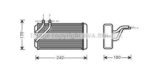Radiateur de chauffage AVA QUALITY COOLING AU6106 (X1)