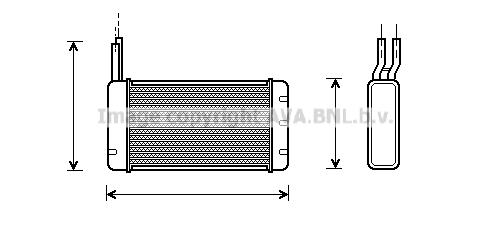 Radiateur de chauffage AVA QUALITY COOLING AU6107 (X1)