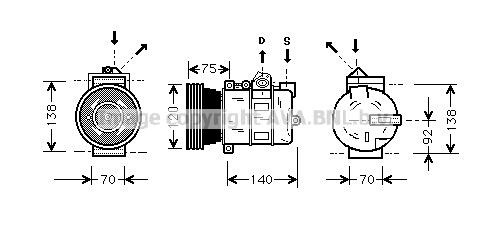 Compresseur AVA QUALITY COOLING AUAK043 (X1)