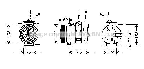 Compresseur AVA QUALITY COOLING AUAK050 (X1)