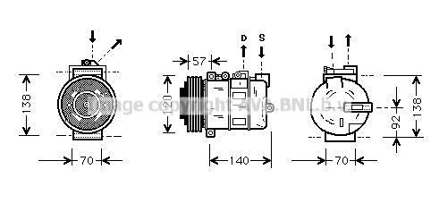 Compresseur AVA QUALITY COOLING AUAK056 (X1)