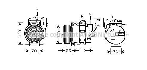 Compresseur AVA QUALITY COOLING AUAK187 (X1)