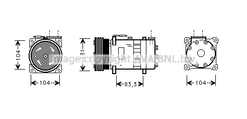 Compresseur AVA QUALITY COOLING AUK003 (X1)