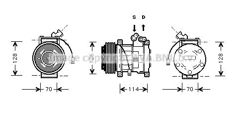 Compresseur AVA QUALITY COOLING AUK009 (X1)