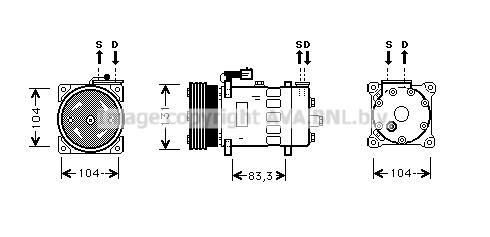 Compresseur AVA QUALITY COOLING AUK156 (X1)