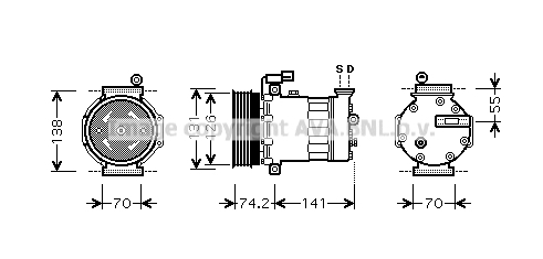 Compresseur AVA QUALITY COOLING AUK171 (X1)