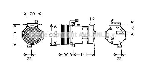 Compresseur AVA QUALITY COOLING AUK172 (X1)