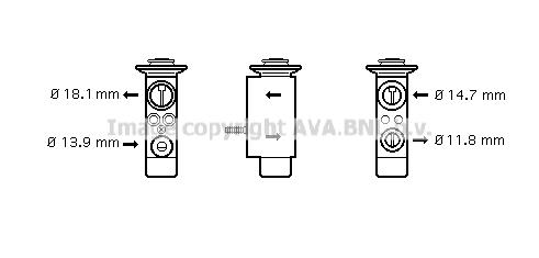 Detendeur de climatisation AVA QUALITY COOLING BW1085 (X1)
