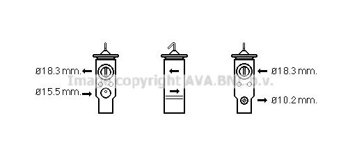 Detendeur de climatisation AVA QUALITY COOLING BW1359 (X1)