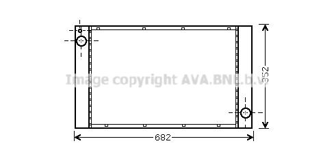 Radiateur de refroidissement AVA QUALITY COOLING BW2333 (X1)