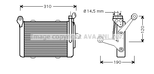 Radiateur huile AVA QUALITY COOLING BW3255 (X1)