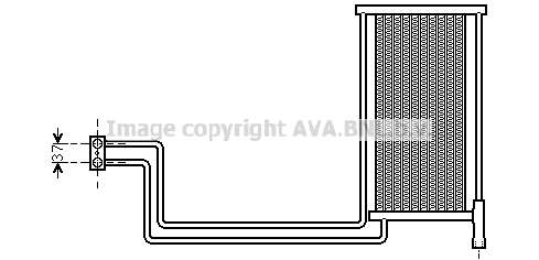 Radiateur huile AVA QUALITY COOLING BW3368 (X1)