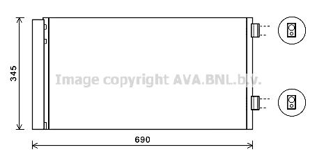 Condenseur / Radiateur de climatisation AVA QUALITY COOLING BW5414D (X1)