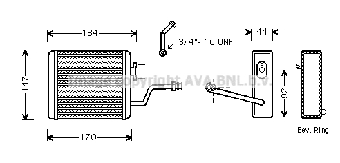 Radiateur de chauffage AVA QUALITY COOLING BW6258 (X1)
