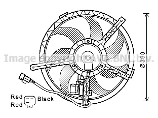 Ventilateur de radiateur AVA QUALITY COOLING BW7534 (X1)