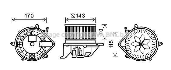 Moteur de ventilateur de chauffage AVA QUALITY COOLING BW8458 (X1)